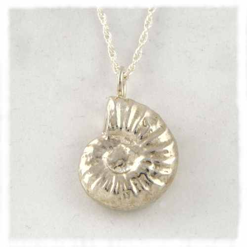 Silver ammonite pendants