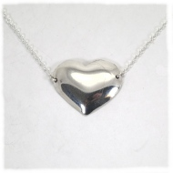 Silver small heart pendant